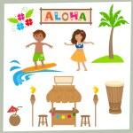 Aloha Set — Stock Vector #73723111