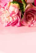 Pink Roses on Pink Table (1) — 图库照片