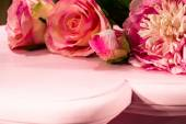 Pink Roses on Pink Table (2) — 图库照片