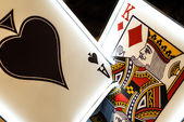 Neon Playing Cards — Stockfoto