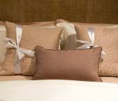 Shades of Brown Pillows — Stock Photo