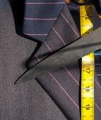 Suit, Tape & Scissors — Stock Photo
