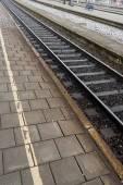 Rough Rail Tracks — Stock Photo