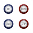 Buttons on white background — Stock Vector #67052133