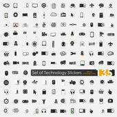 Iconos de la tecnología — Vector de stock