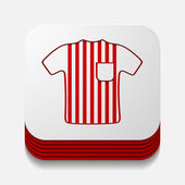 Referee button — Stock Vector