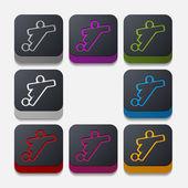 Football player button — Stock Vector