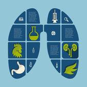 Veterinary flat icons — Stok Vektör