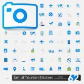 Tourism icons — Vector de stock