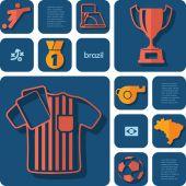 Football and soccer illustration — Stock Vector