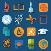 Eğitim simgeler — Stok Vektör