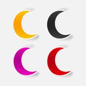 Moon symbol — Stock Vector