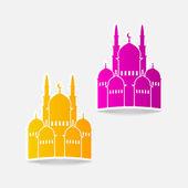 Cami tasarım öğesi — Stok Vektör