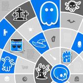 хэллоуин стикер инфографики — Cтоковый вектор