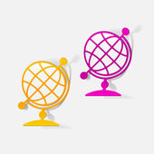 Globe icons — Stockvektor