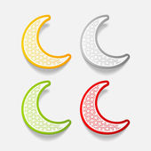Moon icons — Stock Vector