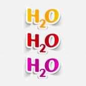 Water Formula — Stock Vector