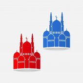 Mosque icon — Vector de stock
