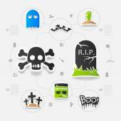 Halloween sticker concept — Stock Vector