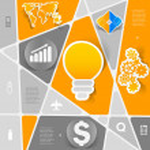 Business geometric infographic — Stock Vector #52603583