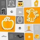 Halloween plochá infographic — Stock vektor