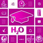 Education sticker infographic — Vecteur