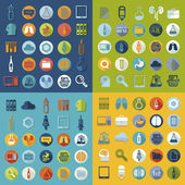 Set of medical flat icons — Vector de stock