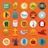 Sada ikon na halloween — Stock vektor