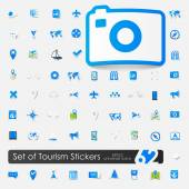 Set of summer tourism icons — Vettoriale Stock