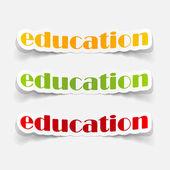Icônes de l'éducation — Vecteur