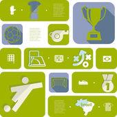 Futebol, futebol infográfico — Vetor de Stock