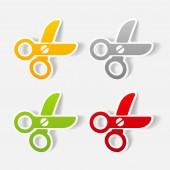 Scissors illustration — Stock Vector