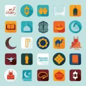 Ramadan Kareem icons — Vettoriale Stock