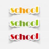 School illustration — Stockvektor