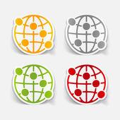 Globe illustration — Stockvektor
