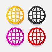 Globe illustration — Stock Vector