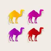 Camel design element — Stock Vector