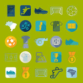 Football, soccer infographic — Stockvektor