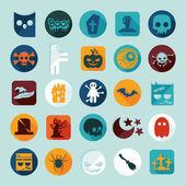 Set of halloween icons — Stock Vector