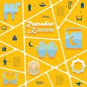 Ramadan Kareem infographic — Stock Vector