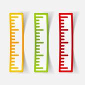 Ruler sticker — Διανυσματικό Αρχείο