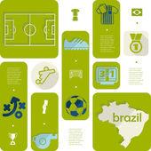 Football, soccer infographic — Διανυσματικό Αρχείο