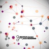 Beautiful molecular structure — Stock Vector