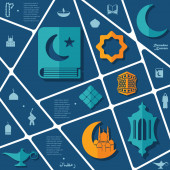 Ramadan Kareem infographic — 图库矢量图片