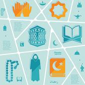 рамадан карим инфографики — Cтоковый вектор
