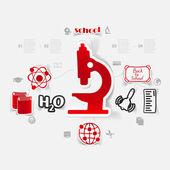 Education sticker infographic — Stock vektor