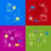 Education sticker infographic — Vettoriale Stock