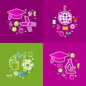 Eğitim etiket infographic — Stok Vektör