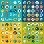 Conjunto de iconos de halloween — Vector de stock