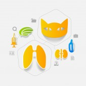 Veterinary sticker infographic — Vecteur